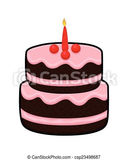 Yummy Cake Abstract Tasty Creamy Birthday Celebration With