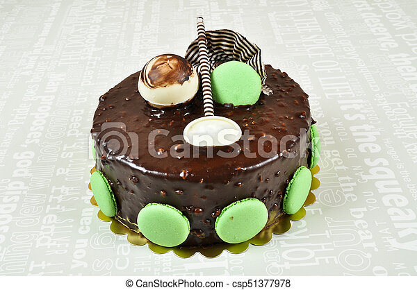 Yummy Chocolate Cake Prepared For Special Occasions Delicious And