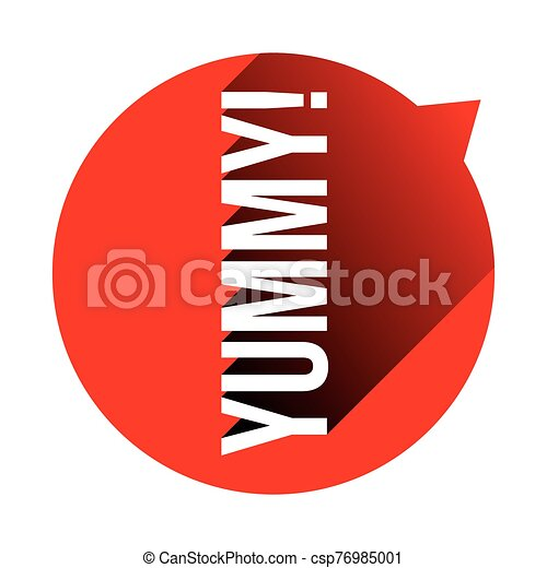 Yummy sign speech bubble red - csp76985001