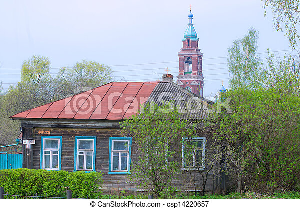 Yuriev-Polsky. Residential Village House and Church of the Intercession - csp14220657