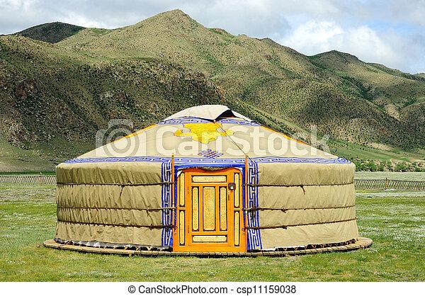 yurt, mongolia - csp11159038