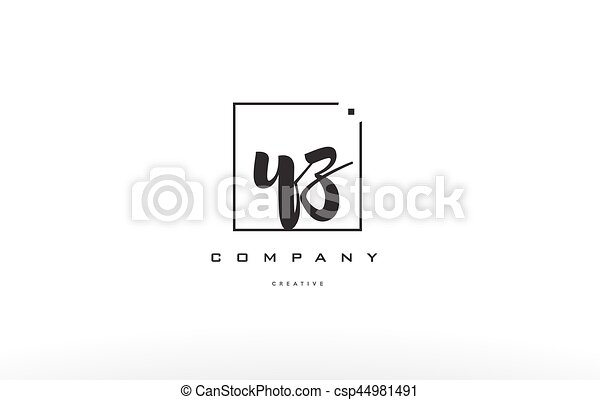 Yz Y Z Hand Writing Letter Company Logo Icon Design
