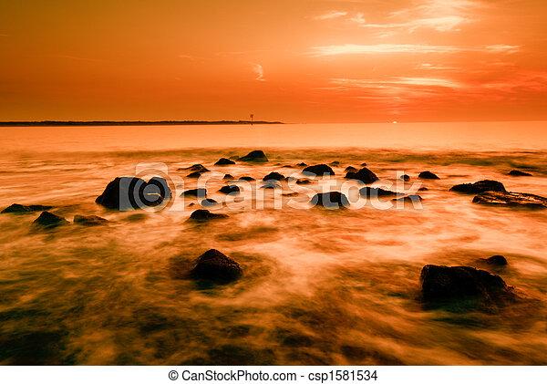 západ slunce oceán - csp1581534