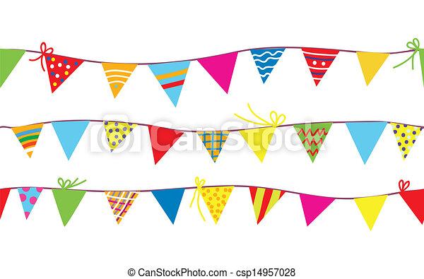 zászlódísz, motívum, gyerekek, zászlók, seamless - csp14957028