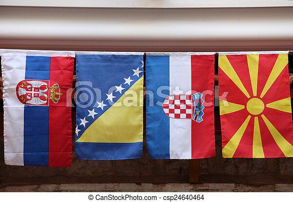 zászlók, yugoslavia, előbbi, országok - csp24640464