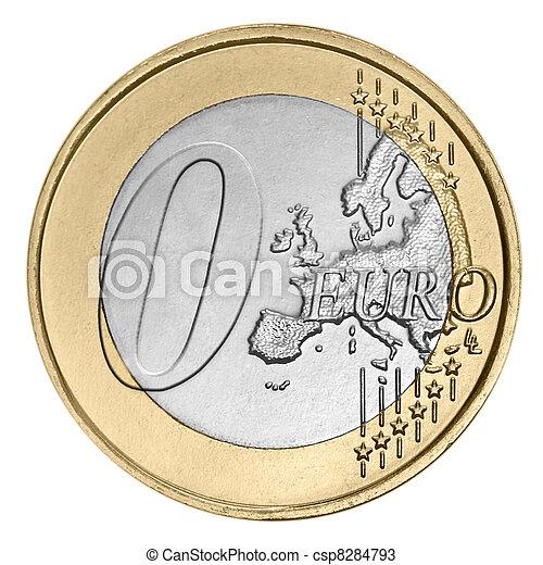 zéro, monnaie, euro - csp8284793