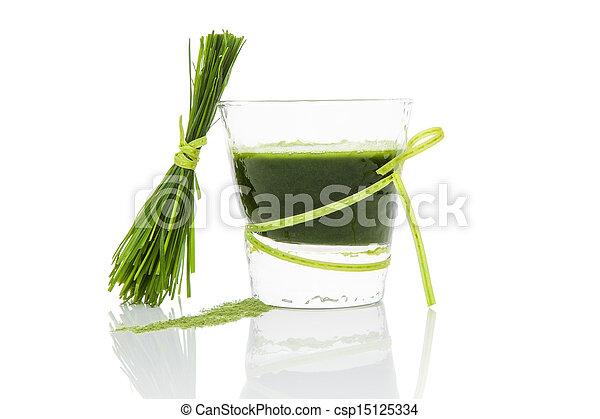 zöld, juice. - csp15125334