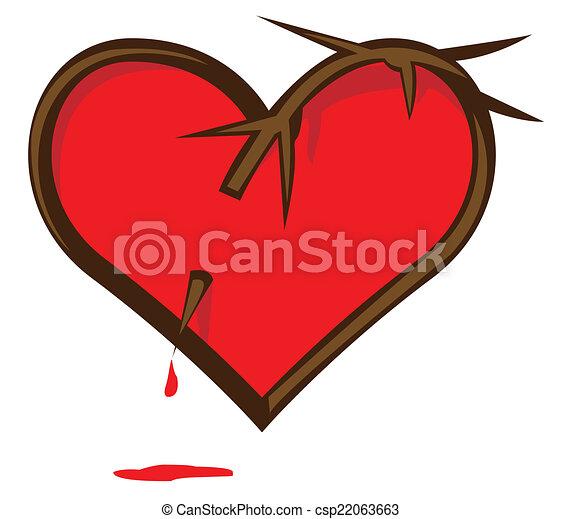 złamane serce - csp22063663
