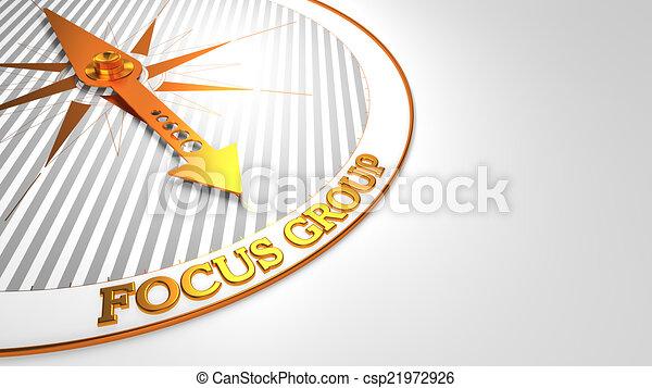 złoty, grupa, ognisko, compass. - csp21972926