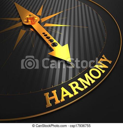 złoty, harmonia, compass. - csp17936755