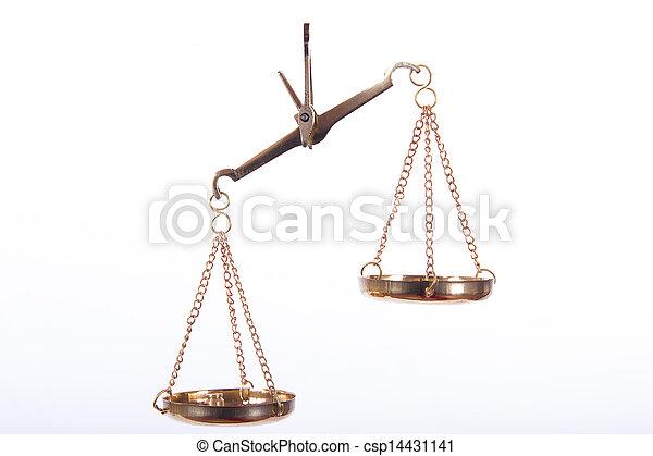 złoty, waga, skalpy - csp14431141