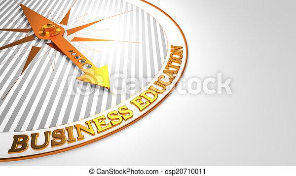 złoty, wykształcenie, handlowy, compass. - csp20710011