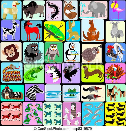 Animales de cartón de un a otro - csp8319579