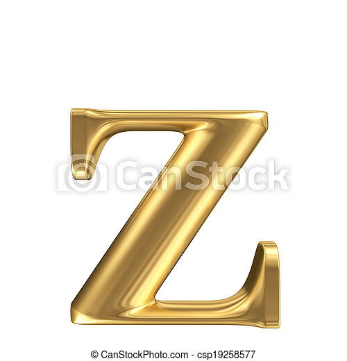 Carta de alfombra dorada, z, colección de joyas - csp19258577