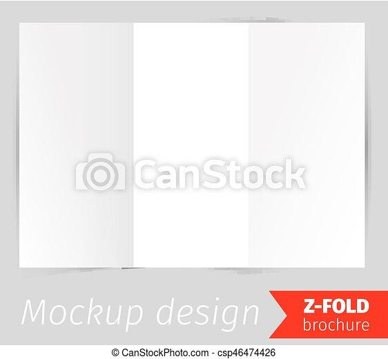 z fold brochure mockup design csp46474426