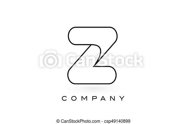 Z monogram letter logo with thin black monogram outline contour z monogram letter logo with thin black monogram outline contour modern trendy letter design vector spiritdancerdesigns Image collections