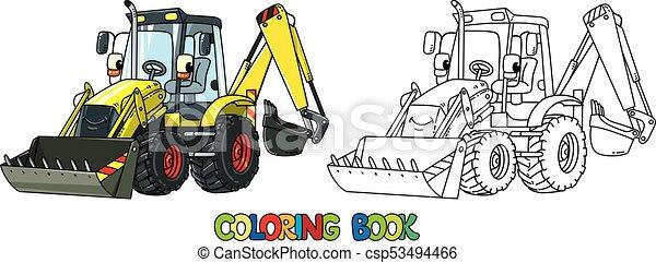 Zabawny Kolorowanie Constuction Książka Eyes Traktor Zabawny