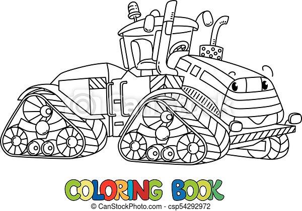 Zabawny Kolorowanie Wielka Książka Eyes Traktor Zabawny Oczy