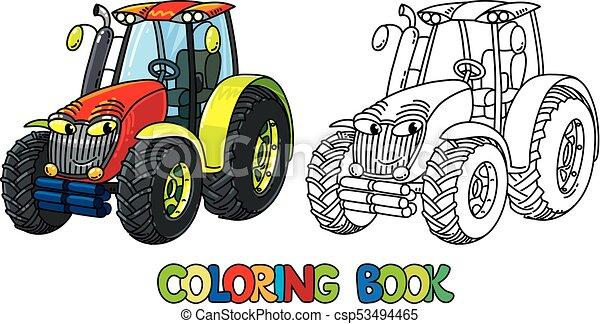 Zabawny Koloryt Książka Mały Eyes Traktor Zabawny Oczy