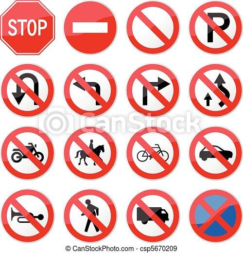 zabroniony, zatrzymajcie drogę znaczą - csp5670209