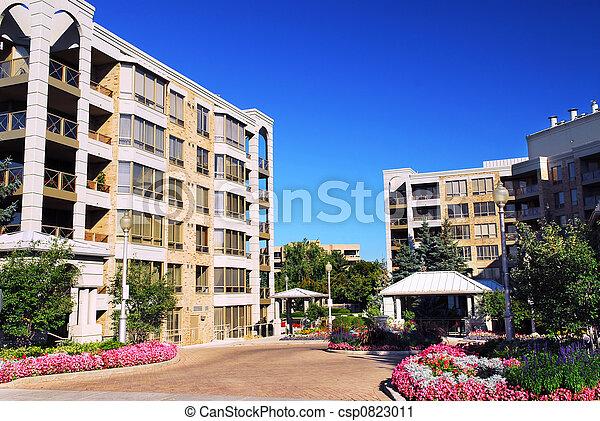 zabudowanie, nowoczesny, kondominium - csp0823011