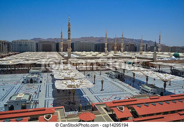 zachód, nabawi, meczet, bok - csp14295194