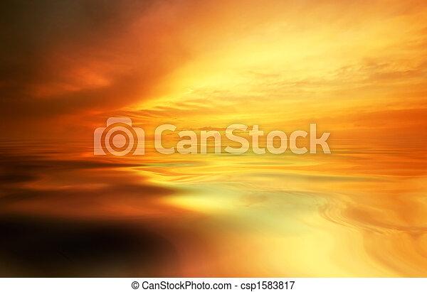 zachód słońca, tło - csp1583817