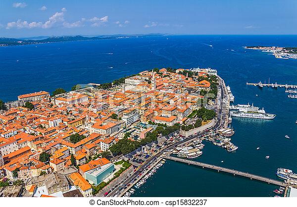Zadar aerial - csp15832237