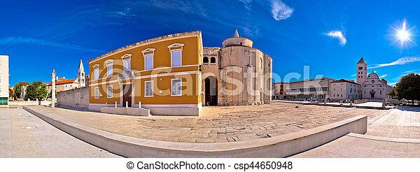 Zadar historic square panoramic view - csp44650948