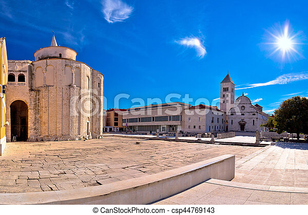 Zadar historic square panoramic view - csp44769143