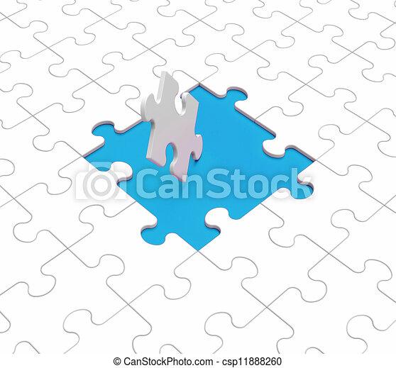 zagadka, otwory, widać, brakujące kawały - csp11888260