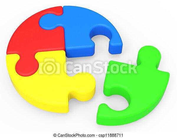 zagadka, rozwiązywanie, widać, niedokończony, zakończenie - csp11888711