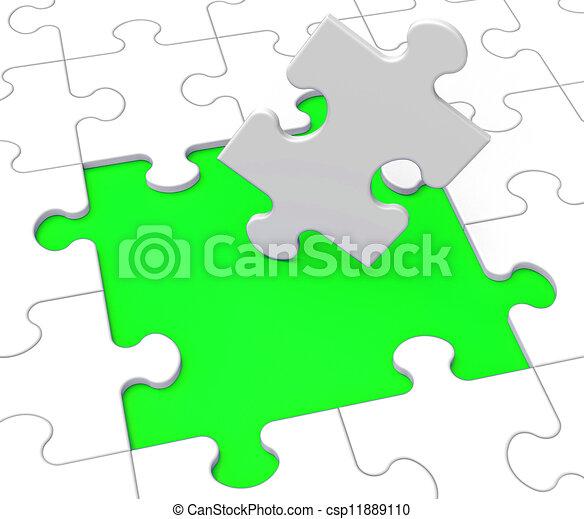 zagadka, widać, problemy, brakujące kawały - csp11889110