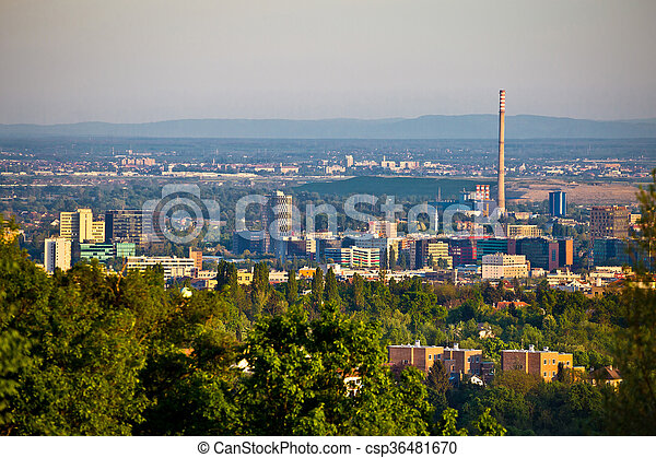 Zagreb business district panoramic view - csp36481670