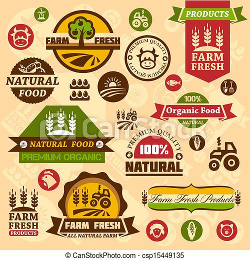 zagroda, logo, projekty, etykiety - csp15449135