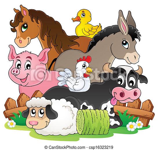 zagroda, topic, wizerunek, 2, zwierzęta - csp16323219