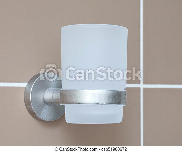 Zahnbürste, glas, badezimmer. Badezimmer, -, fokus,... Bild - Suche ...