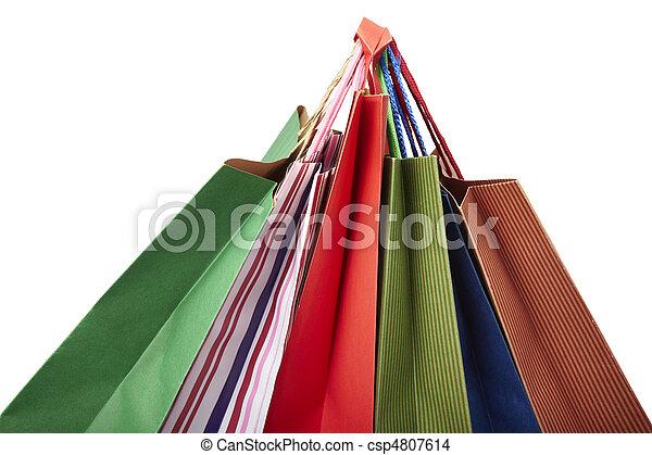 zak, consumentisme, het kleinhandels winkelen - csp4807614