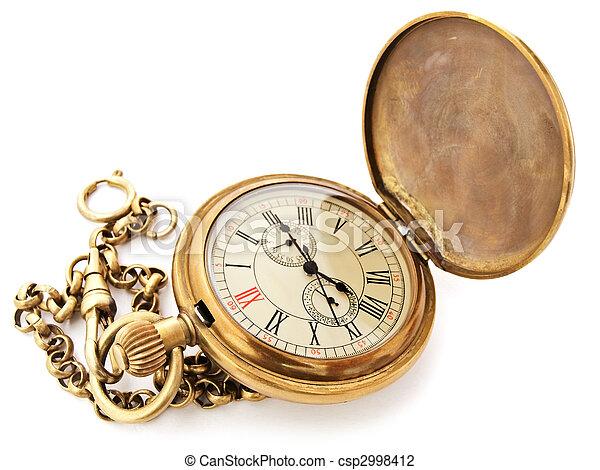 Verrassend Zak, ouderwetse , klok. Oud, geopend, klok, ouderwetse , tegen JQ-54