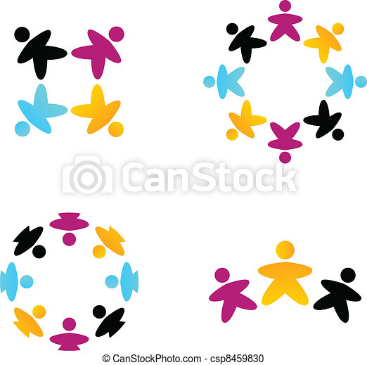 zakelijk, vrijstaand, team, samenwerking, multicultureel, witte  - csp8459830