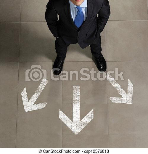 zakenman, beeld, hoogste mening - csp12576813