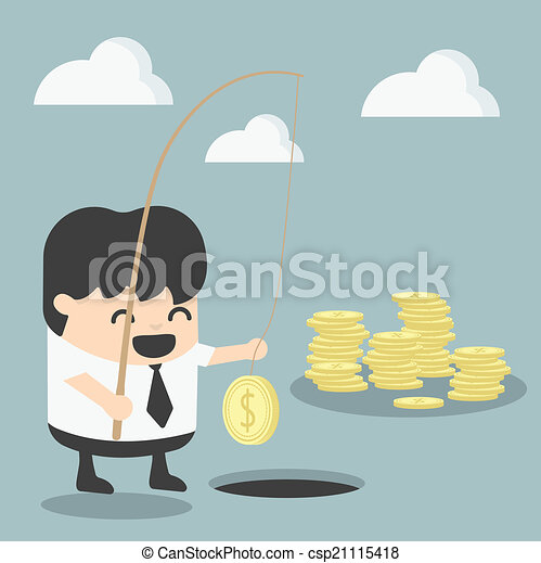 zakenman, concept, investering - csp21115418