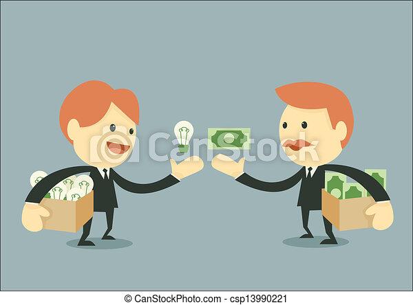 zakenman, handel - csp13990221