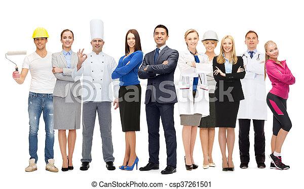 zakenman, op, professioneel, werkmannen , anders - csp37261501