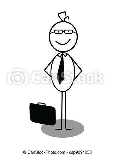zakenman, opstaan - csp9294053