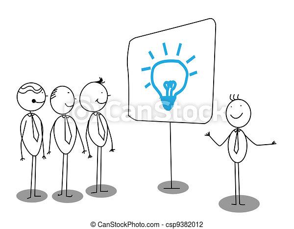 zakenman, presentatie - csp9382012