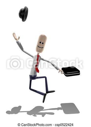 zakenman, vrolijke  - csp0522424