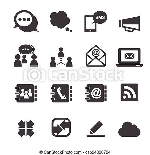 zakomunikowanie ikona - csp24320724