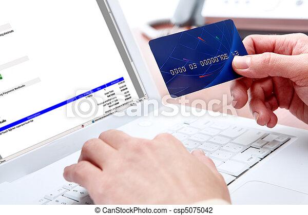 zakupy, wpłata, online - csp5075042