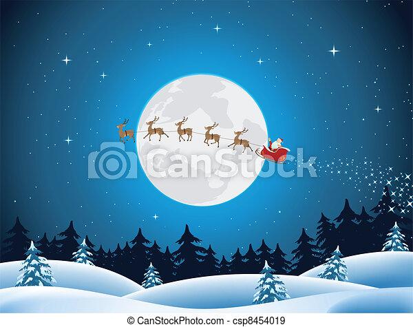 zalige kerst, kaart - csp8454019